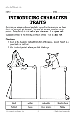 introducing character traits teachervision