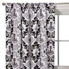 White And Black Damask Curtains Formidable Black And White Chandelier Curtains In Luxury Home