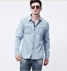 aliexpress com buy new man denim dress shirts brand design men u0027s