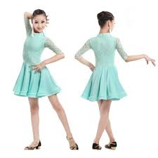 mint light green colored lace sleeves patchwork spandex girls kids