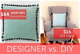 Diy Hack Designer Vs Diy West Elm Throw Pillow Hack For 15