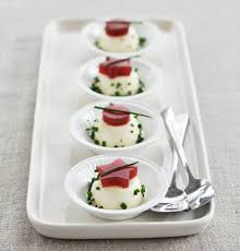 thanksgiving amuse bouche savory goat cheese panna cotta with