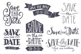 Savethedate Save The Date Vintage Style Clip Art And Brides On Clipartix