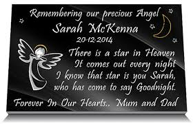 baby plaques baby memorial plaque angel praying and personal memorial verse