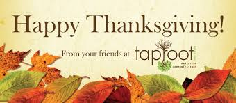happy thanksgiving from your friends at taproot marketing