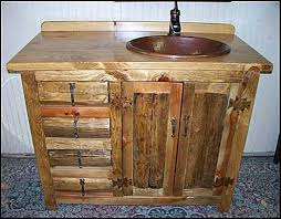 Rustic Bathroom Cabinets Vanities - rustic bathroom vanity cabinets u2014 optimizing home decor ideas