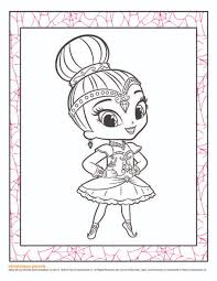 nick jr coloring pages shimmer and shine murderthestout