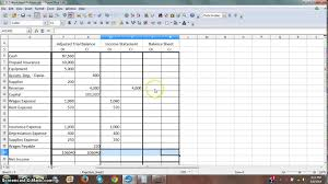 Income Projection Spreadsheet Worksheet 3 Income Statement And Balance Sheet Columns Youtube