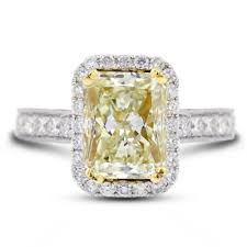 yellow engagement rings radiant yellow diamond engagement ring this excellent