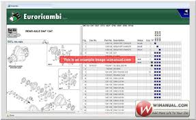 euroricambi truck catalog spare parts manual new download
