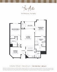 2 Bedroom Condo Floor Plans Deerwood Place Condominiums In Jacksonville Florida