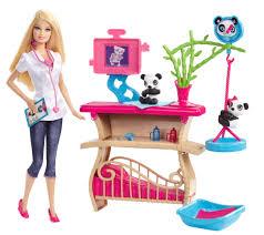 Barbie Dining Room Barbie Careers Panda Caretaker Playset Walmart Com