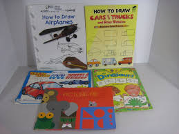 kids how to draw books lot of 5 cars trucks ed emberley airplanes