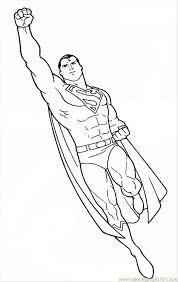superman printable coloring