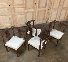 Italian Renaissance Interior Design Pair 19th Century Italian Renaissance Walnut Corner Chairs