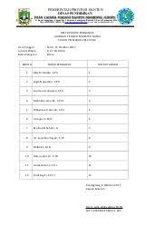 format absensi ujian daftar hadir pengawas ujian sekolah
