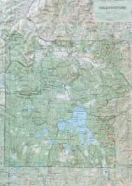 Yellowstone Park Map Raised Relief Map Of Raised Relief Map Of Yellowstone National