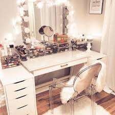 Vanity Table L Splendid White Makeup Vanity Table Bedroom With Lighted Mirror