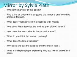 What Does Wall Mean by Mirror By Sylvia Plath Sylvia Plath Was Born On October 27 1932
