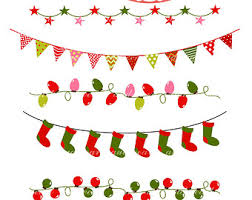 merry christmas bunting clipart 21
