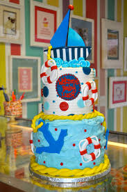coolest cupcakes nautical baby shower cake