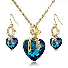 jewelry sets way austrian fashion heart jewelry sets