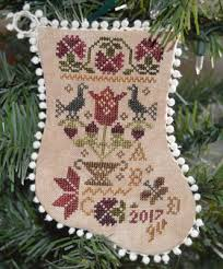 abby designs tulip basket ornament cross stitch pattern