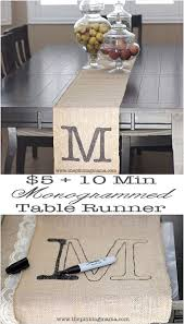 Monogrammed Home Decor 50 Creative Diy Projects Made With Burlap Diy Joy