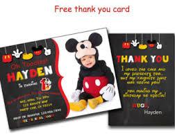 mickey invitations etsy