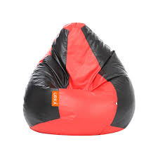 Red Leather Bean Bag Chair Buy Orka Classic Bean Bag Cover Without Beans Xl Red U0026 Black 1