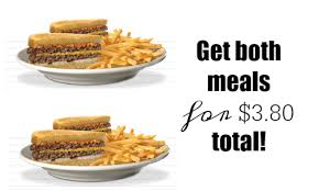 two steak n shake meals for 3 80 southern savers