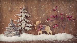 wallpaper christmas new year deer fir tree elk decorations