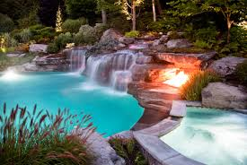 Beautiful Pool Backyards by Fantastic Swimming Pool With Unique Shape And Water Fountain Idea