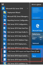 iniciar el asistente para importación y exportación de sql server