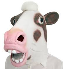 amazon com lubber halloween costume cow latex animal head mask