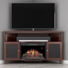 Electric Fireplace With Storage by Furnitech 60 In Shaker Style Corner Tv Console With 25 In