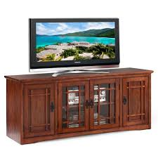mission oak hardwood 60 inch tv stand free shipping today