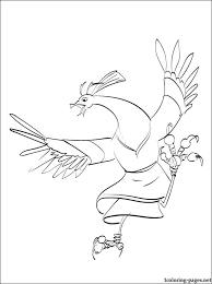 bird cartoon kung fu panda printable coloring pages