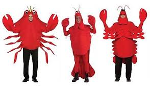 Lobster Halloween Costume Unisex Mens Womens Crab Crawfish Lobster Halloween Party