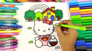 how to color hello kitty coloring book hello kitty coloring