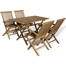 Teak Patio Dining Set - vidaxl co uk vidaxl five piece teak outdoor dining set
