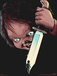 halloween horror nights chucky classic horror movie poster art series by matt ryan tobin