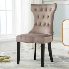 Tufted Dining Chair Set Set Of 2 Tufted Design Fabric Upholstered Modern Dining