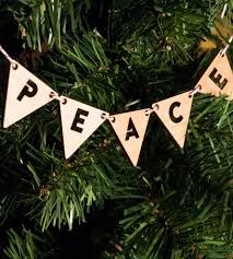 peace merry wood ornaments home decor