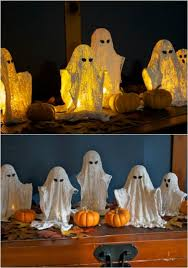 How To Make Little Ghost Decorations 40 Easy To Make Diy Halloween Decor Ideas Page 4 Of 4 Diy U0026 Crafts