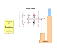 rocker switch and joystick wiring w linear actuators 4 steps