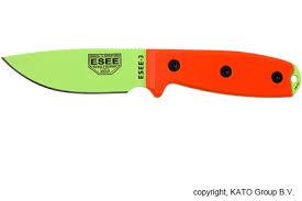 Esee Kitchen Knives Esee Knives Model 3 Venom Green Orange G10 Esee 3pm Vg