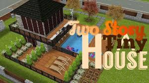 two story tiny house 5x5 house original design sims