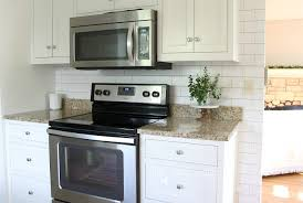 grey subway tile backsplash kitchen how to stain cabinets granite