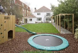 best backyard trampoline the site image on astounding backyard